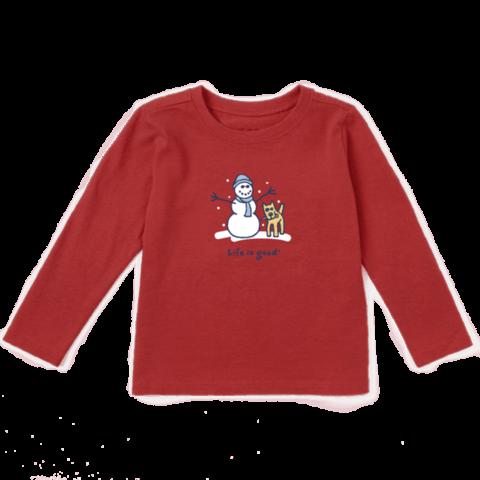 Toddler Crusher L/S Tee, LIG Snowman