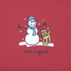Girls L/S Crusher Tee, LIG Snowman