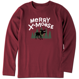 Life is Good Boys L/S Crusher Tee, Merry X-Moose