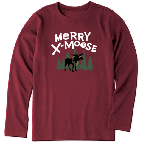 Boys L/S Crusher Tee, Merry X-Moose