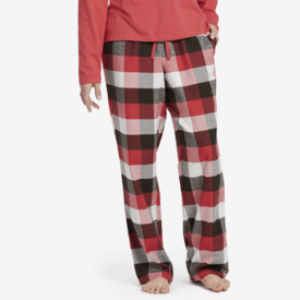 Life is Good Womens Classic Sleep Pants, Sleepy Red Plaid
