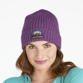 Life is Good Toasty Groove Beanie, Life is Good, Happy Plum