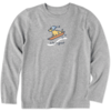 Boys L/S Crusher Tee, Vintage Dog Sled Rocket
