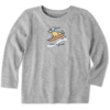 Toddler Crusher L/S Tee Vintage Dog Sled Rocket