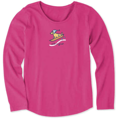 Girls L/S Crusher Tee, Vintage Dog Sled