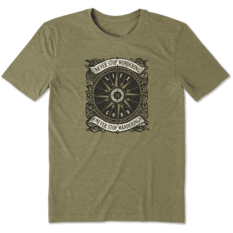 Men's Cool Tee, Compass Wander