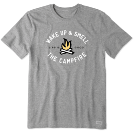 Men's Crusher Tee, Smell The Campfire