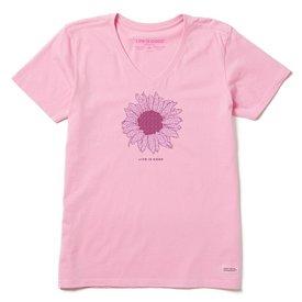 Life is Good Womens Crusher Vee, Sunflower