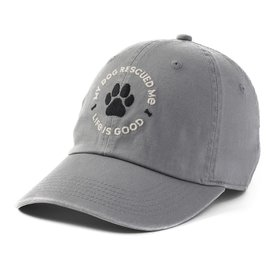 Chill Cap, My Dog Rescued Me, Slate Grey