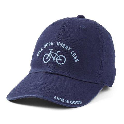 Chill Cap, Bike More, Worry Less, Darkest Blue