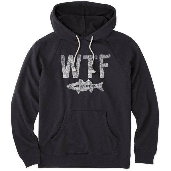 Life is Good Men's Go-To Zip Hoodie Where's the Fish