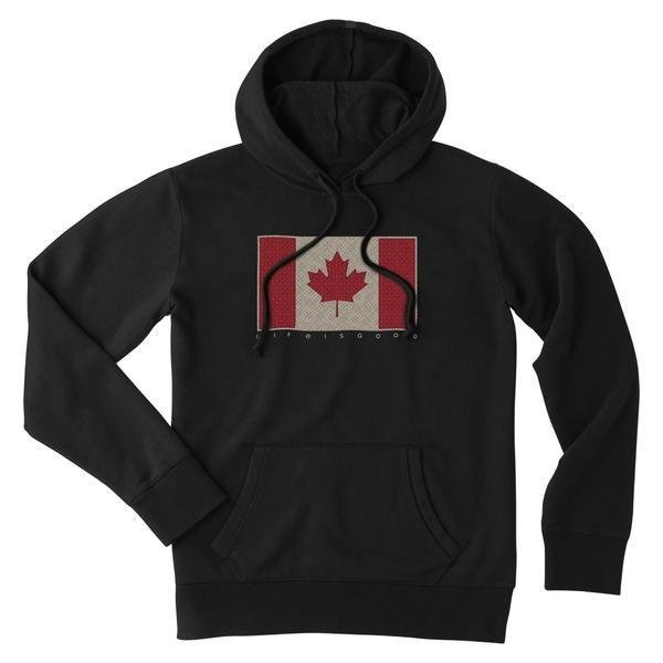 Life is Good Womens Hoodie, True North Strong and Free Canada