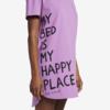 Womens L/S Sleep Tee, Happy