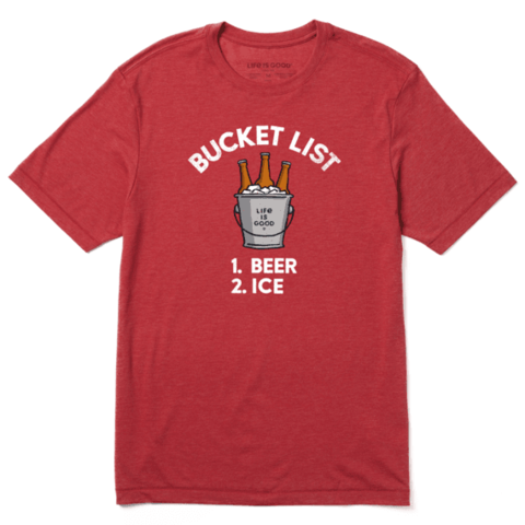 Men's Cool Tee, Bucket List