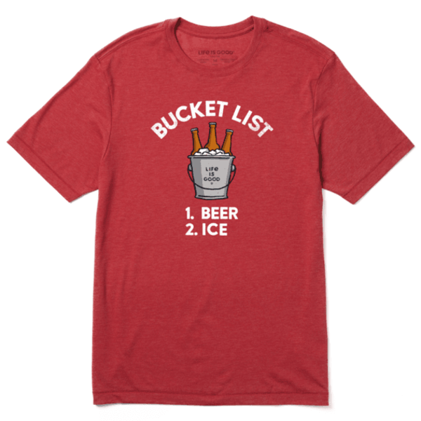 Men's Cool Tee, Bucket List Beer