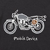 Men's Cool Tee, Mobile Device Motorcycle