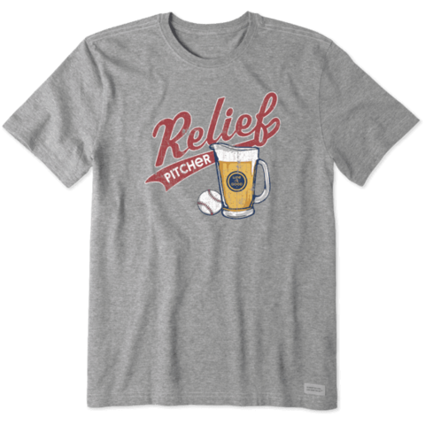 Men's Crusher Tee, Relief Pitcher