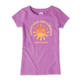 Life is Good Girls Crusher Tee, Create Your Own Sunshine