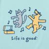 Womens Crusher Tee Happy Dance Cat Dog