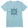 Womens Cool Tee The Ocean is Magic Compass