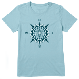 Life is Good Womens Cool Tee, Ocean is Magic Compass