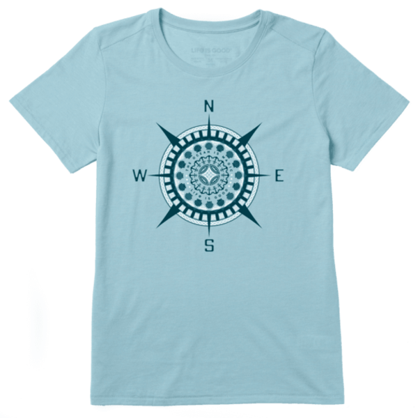 Life is Good Womens Cool Tee The Ocean is Magic Compass