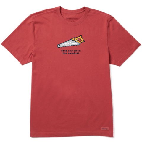 Men's Crusher Tee, Smell the Sawdust