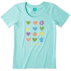 Life is Good Womens Crusher Scoop Tee, Kitchen Garden