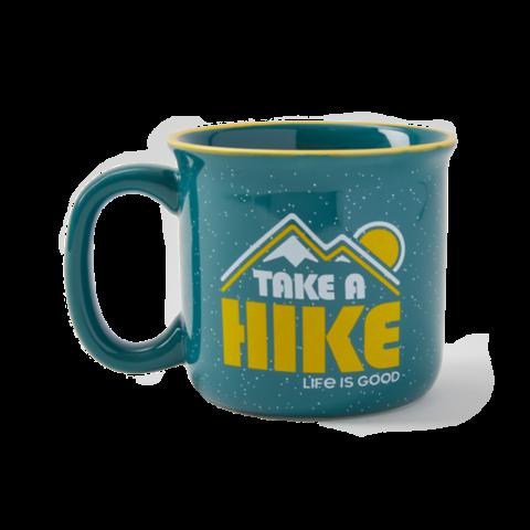 Happy Camper Mug, Take a Hike, Persian Blue