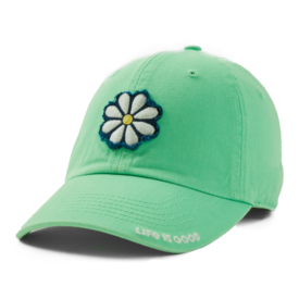 Tattered Chill Cap, Daisy, Spearmint Green