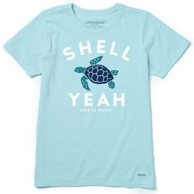Life is Good Womens Crusher Tee, Shell Yeah