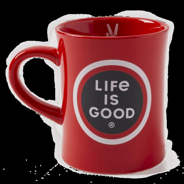 Diner Mug, Life is Good Coin