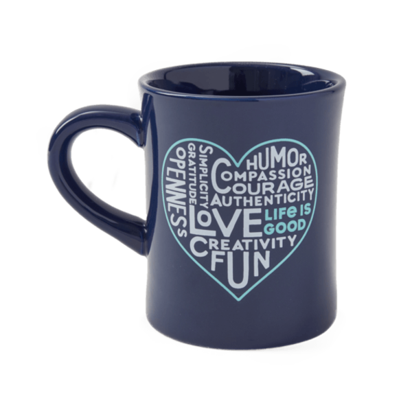 Diner Mug, Superpowers Heart