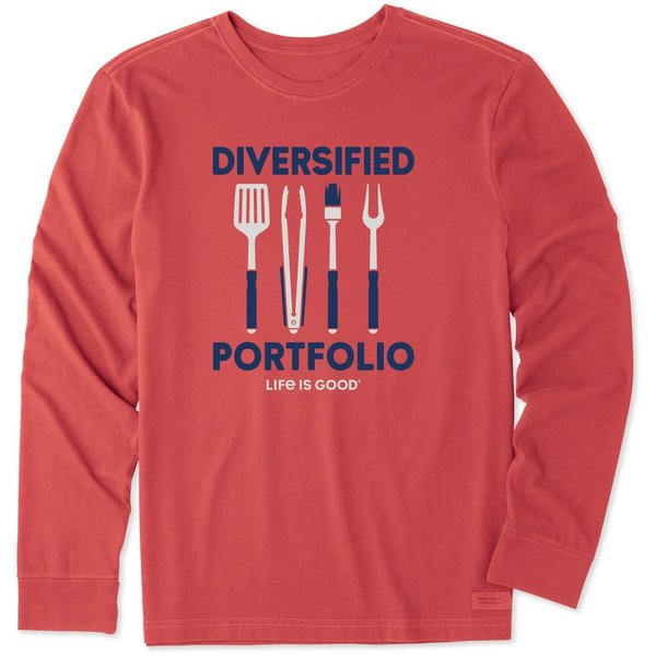 Men's Crusher L/S Tee, Diversified Portfolio BBQ