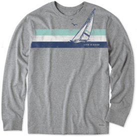 Men's Crusher L/S Tee, LIG Sailboat