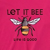 Womens Crusher L/S Tee Let it Bee