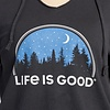 Womens L/S Hooded Tee, Starry Night