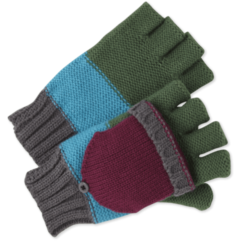 Womens Fingerless Gloves, Slate Grey