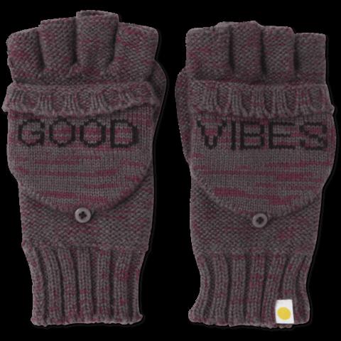 Womens Fingerless Gloves, Slate Grey