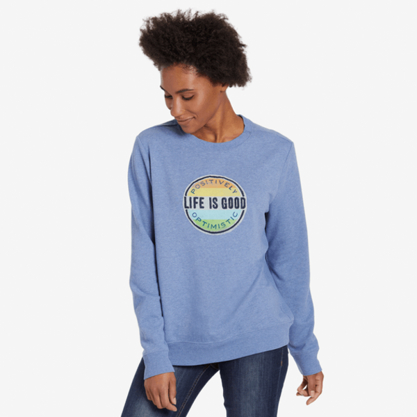 Life is Good Womens Go-To Crew, Positively Optimistic