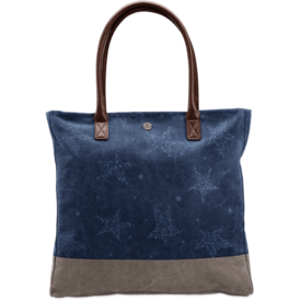 Life is Good All in One Tote, Stars, Sea Blue