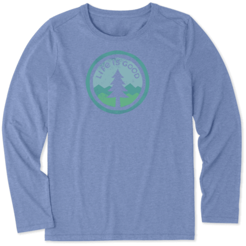 Womens L/S Cool Tee, Tree Coin