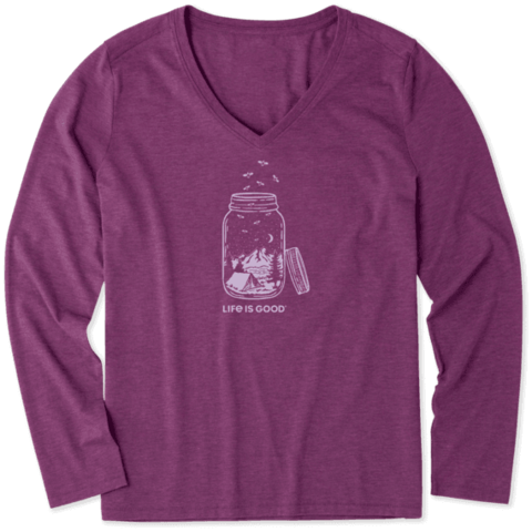 Womens L/S Cool Tee, Camp Jar