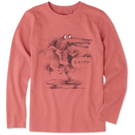 Life is Good Boys L/S Crusher Tee, Later Gator