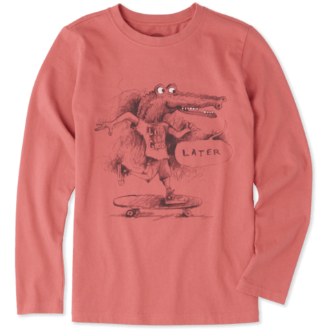 Boys L/S Crusher Tee, Later Gator