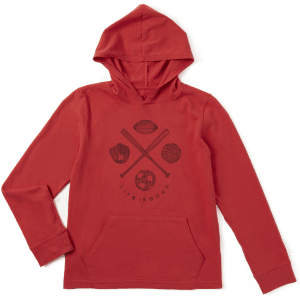 Life is Good Boys L/S Hooded Crusher Tee, Sports Addict