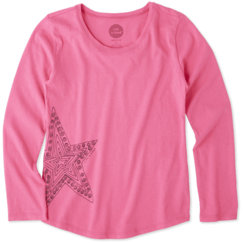 Girls L/S Smooth Tee, Star