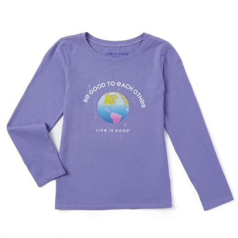 Girls L/S Crusher Tee, Be Good to Each Other