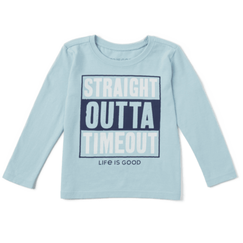 Toddler Crusher L/S Tee, Straight Outta Timeout
