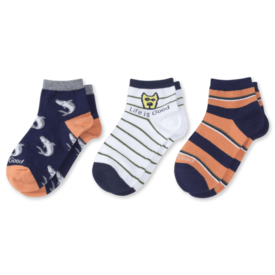 Life is Good Boys 3-Pack Quarter Socks, Rocket & Shark